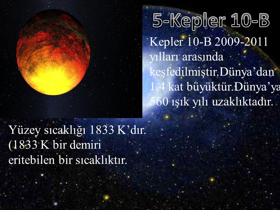 5-Kepler 10-B Kepler 10-B 2009-2011 yılları arasında