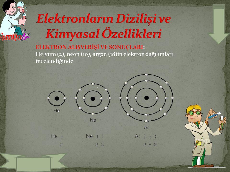 Elektronların Dizilişi ve Kimyasal Özellikleri