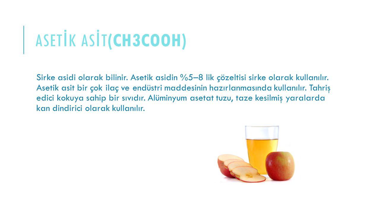 asetİk ASİT(CH3COOH)