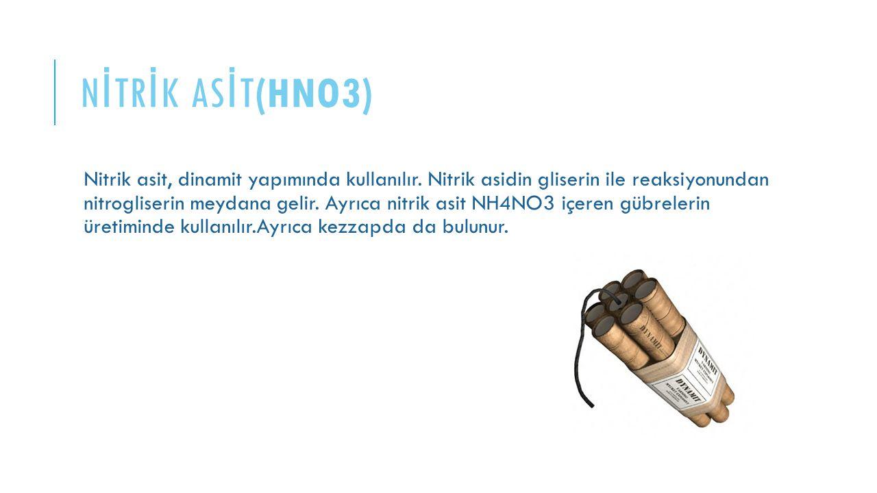 NİTRİK ASİT(HNO3)