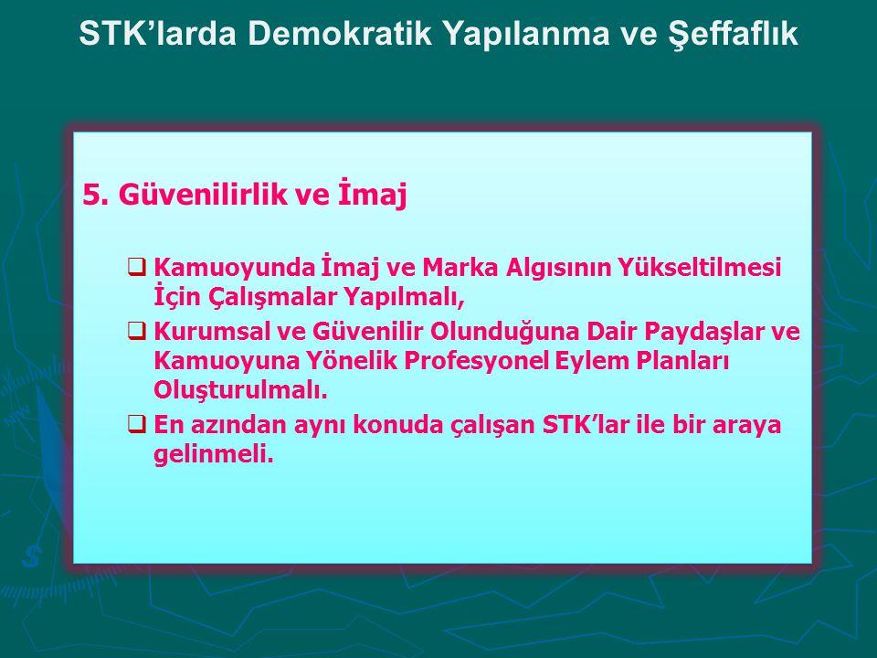 STK'larda Demokratik Yapılanma ve Şeffaflık