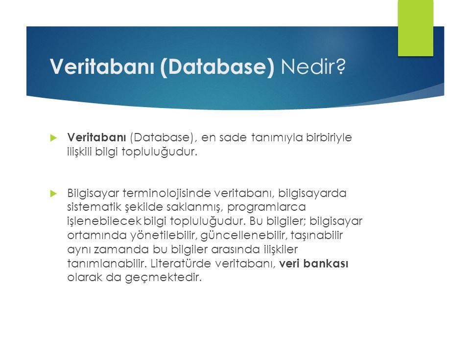Veritabanı (Database) Nedir