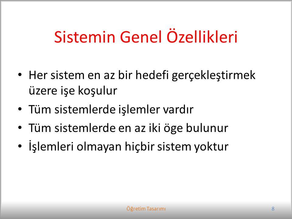 Sistemin Genel Özellikleri