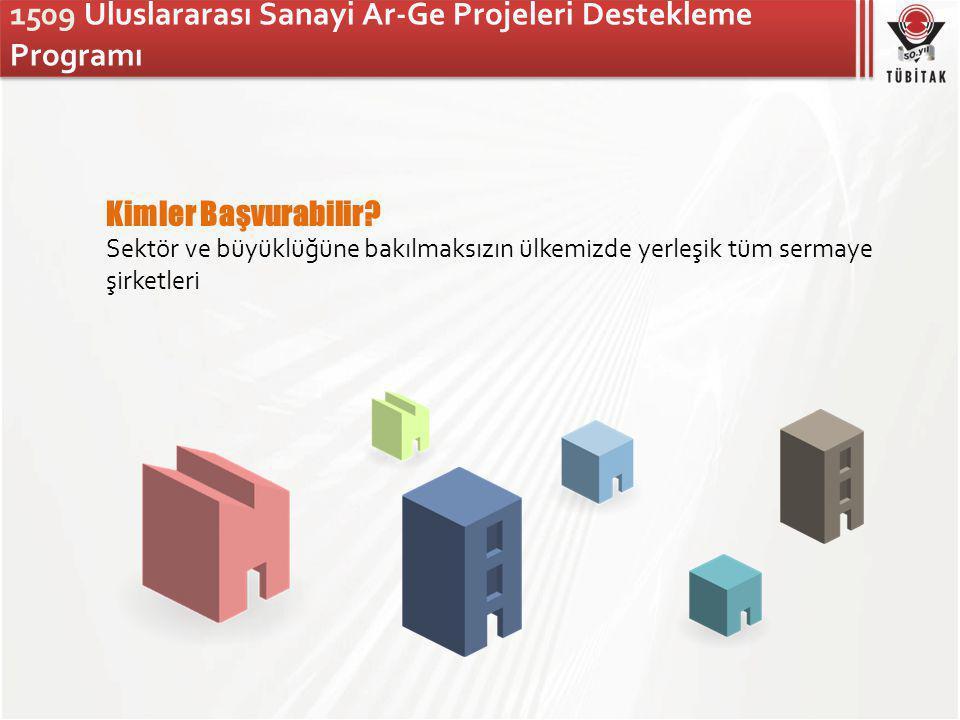 1509 Uluslararası Sanayi Ar-Ge Projeleri Destekleme Programı