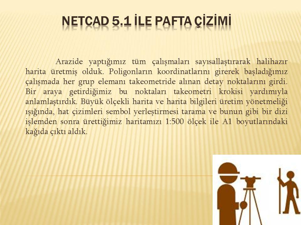 NETCAD 5.1 İLE PAFTA ÇİZİMİ