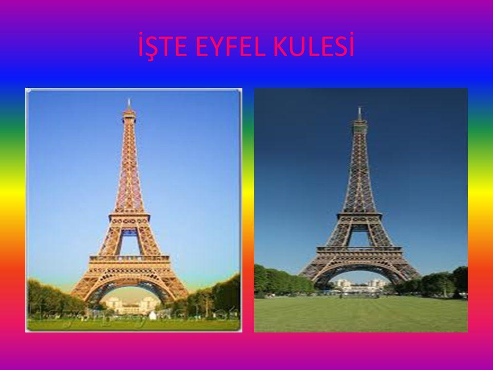 İŞTE EYFEL KULESİ Muhteşem Eyfel Kulesine gidemeyenler için birkaç poz