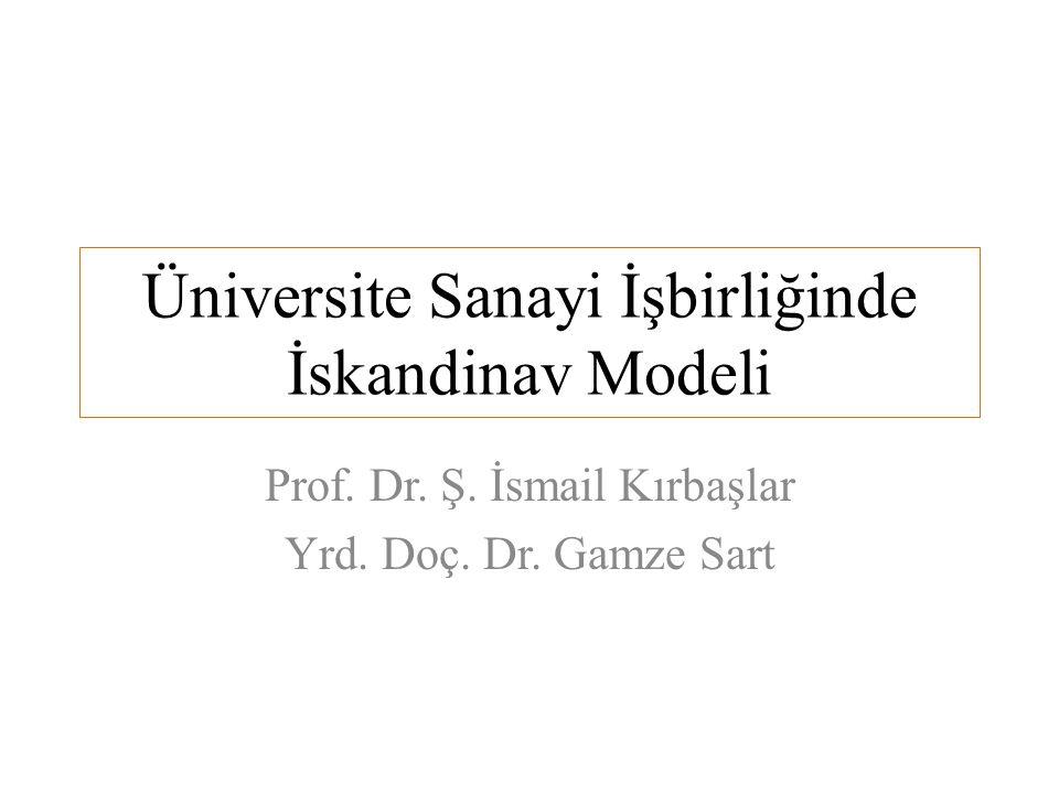 Üniversite Sanayi İşbirliğinde İskandinav Modeli