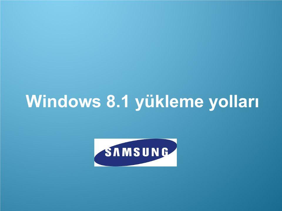 Windows 8.1 yükleme yolları