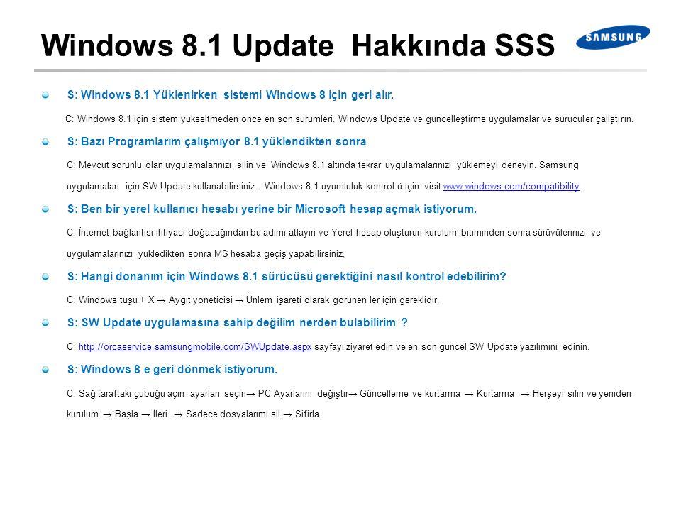 Windows 8.1 Update Hakkında SSS