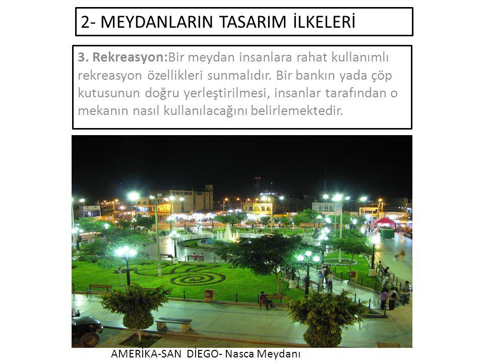 2- MEYDANLARIN TASARIM İLKELERİ