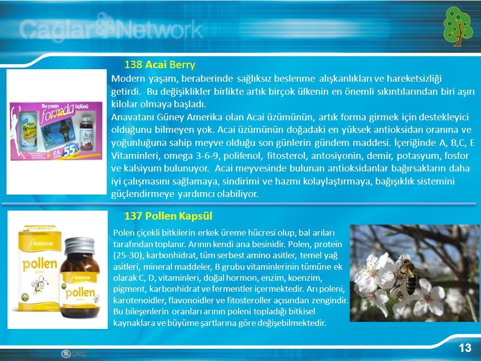 138 Acai Berry 137 Pollen Kapsül 13