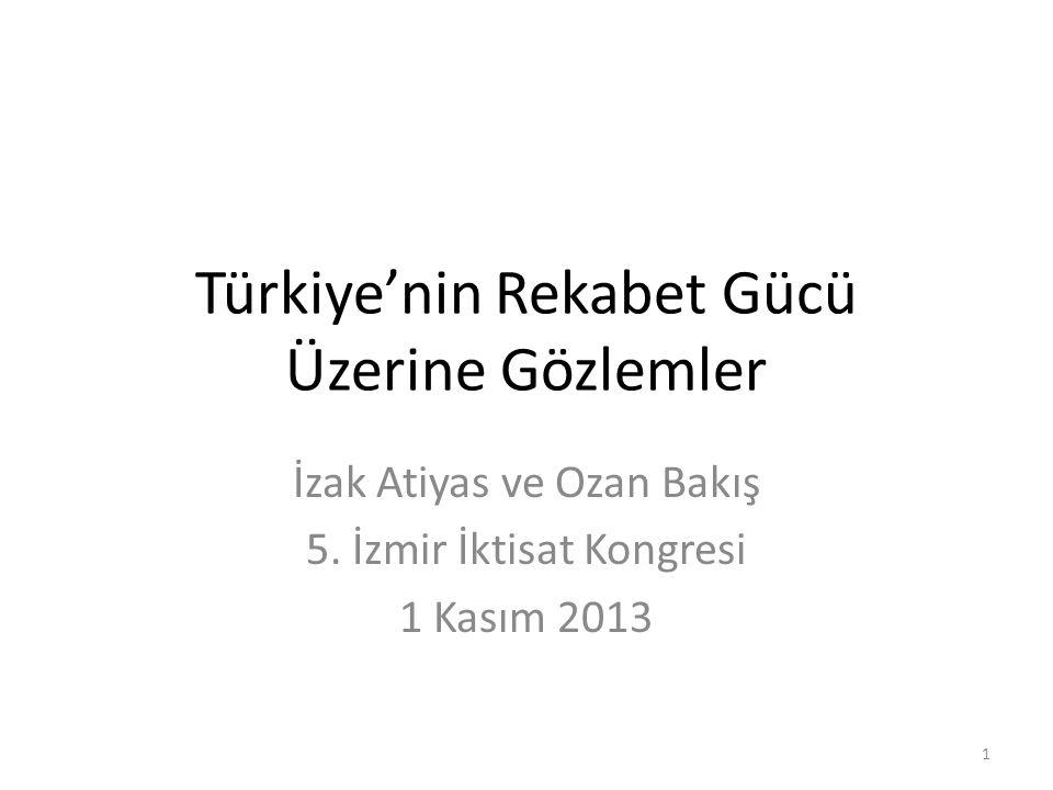 Türkiye'nin Rekabet Gücü Üzerine Gözlemler