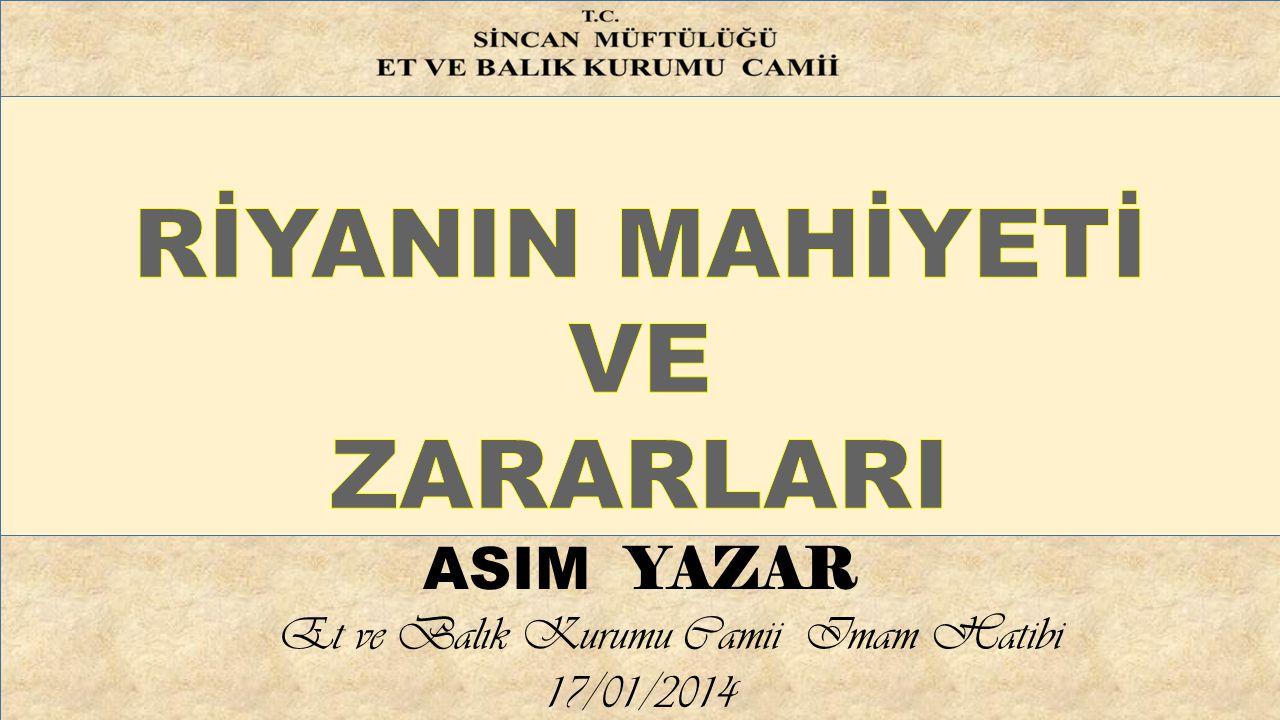 Et ve Balık Kurumu Camii Imam Hatibi 17/01/2014