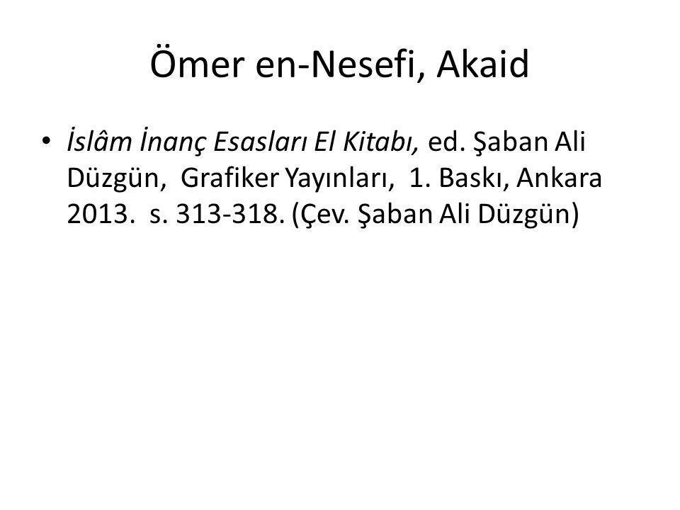 Ömer en-Nesefi, Akaid