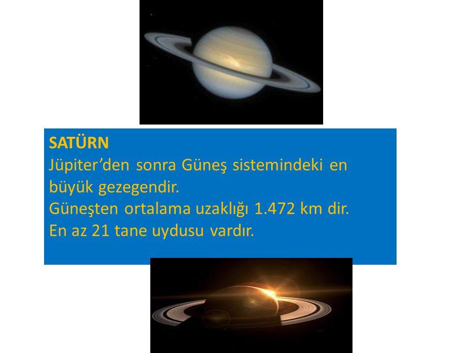 SATÜRN Jüpiter'den sonra Güneş sistemindeki en büyük gezegendir