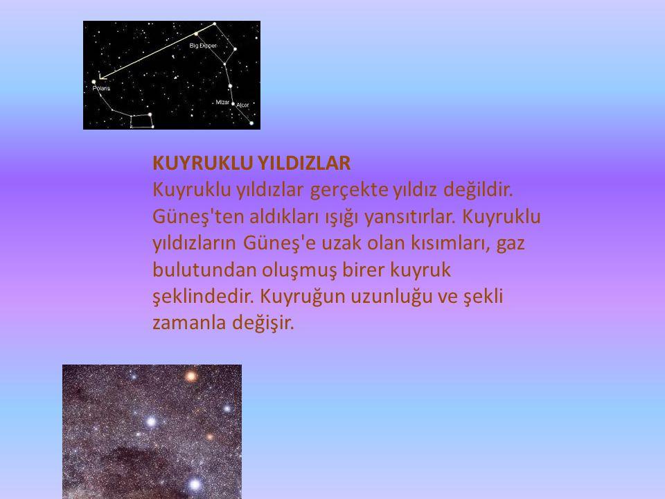 KUYRUKLU YILDIZLAR Kuyruklu yıldızlar gerçekte yıldız değildir