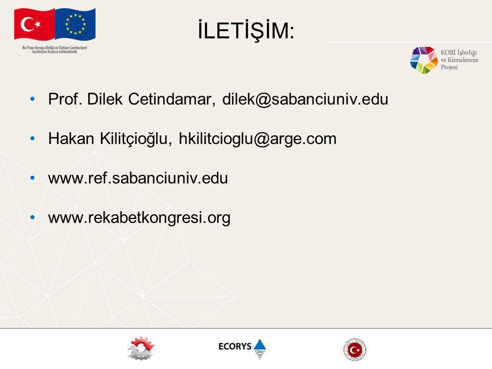 İLETİŞİM: Prof. Dilek Cetindamar, dilek@sabanciuniv.edu