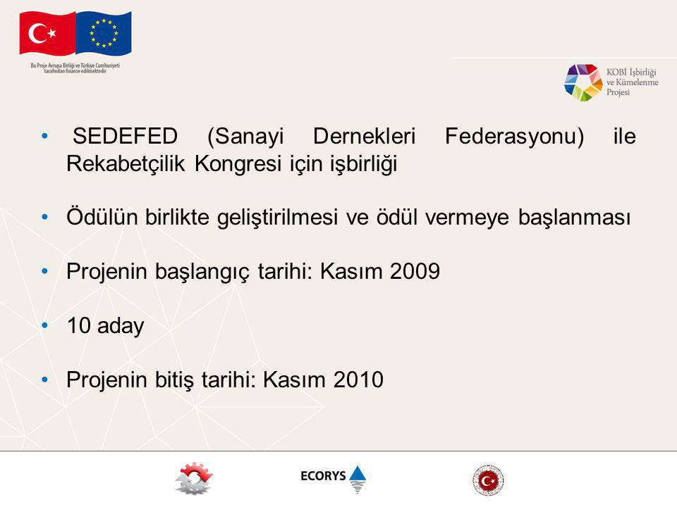 SEDEFED (Sanayi Dernekleri Federasyonu) ile Rekabetçilik Kongresi için işbirliği