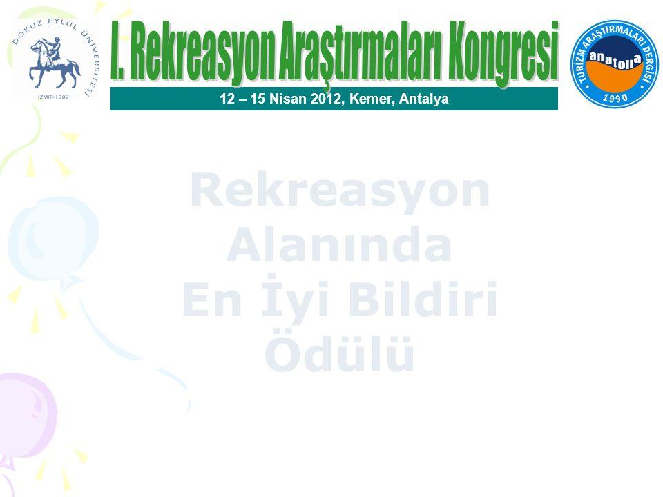 I. Rekreasyon Araştırmaları Kongresi