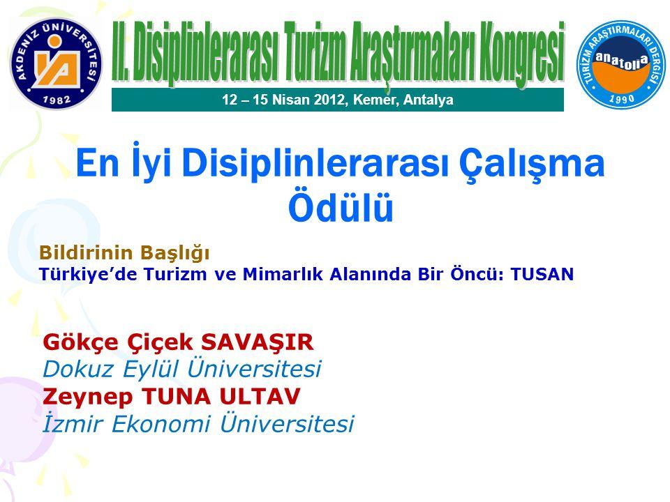 En İyi Disiplinlerarası Çalışma Ödülü