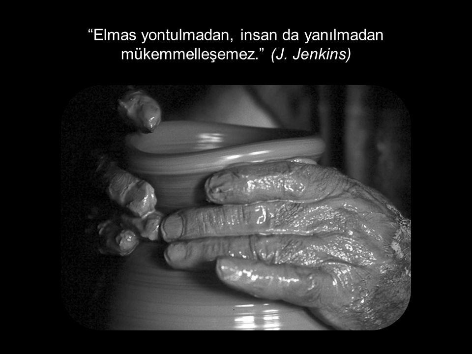 Elmas yontulmadan, insan da yanılmadan mükemmelleşemez. (J. Jenkins)