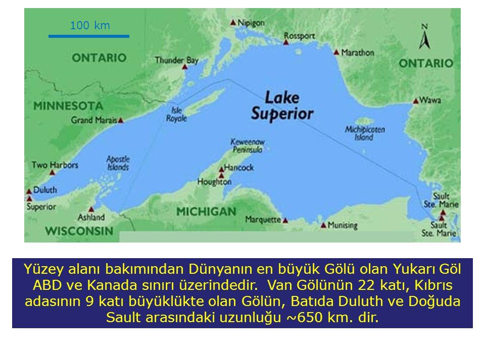 Yüzey alanı bakımından Dünyanın en büyük Gölü olan Yukarı Göl