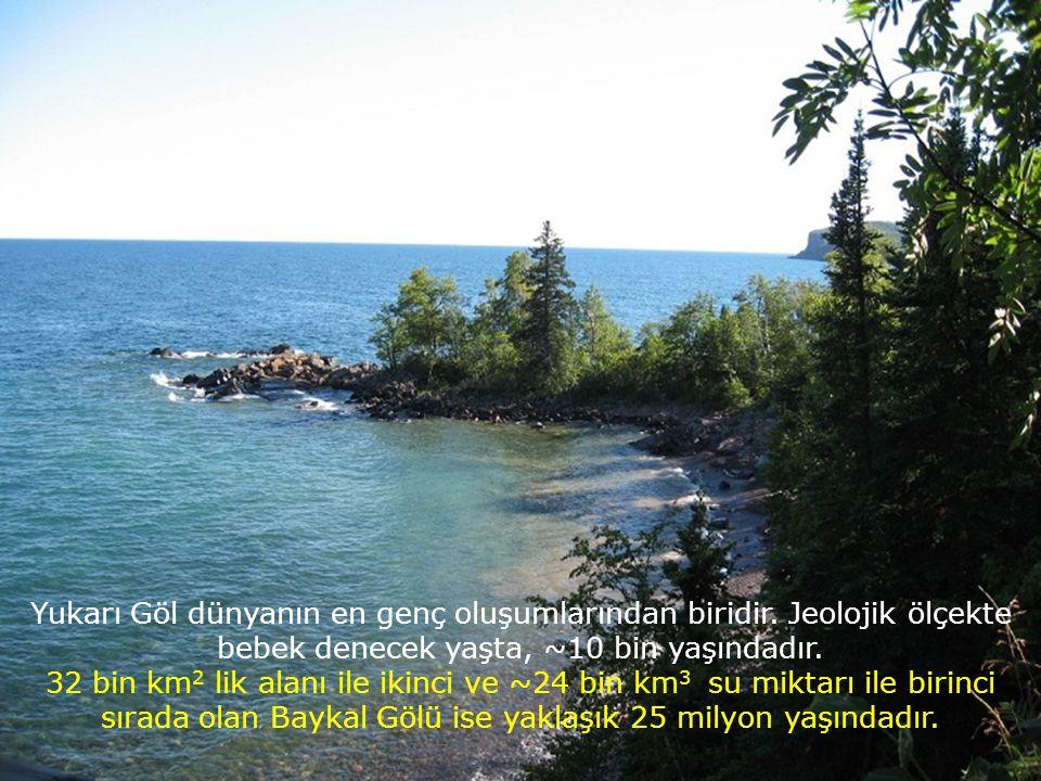 Yukarı Göl dünyanın en genç oluşumlarından biridir