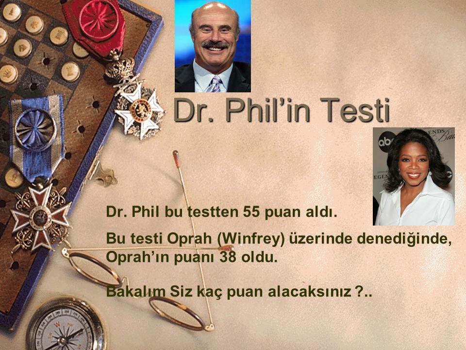 Dr. Phil'in Testi Dr. Phil bu testten 55 puan aldı.