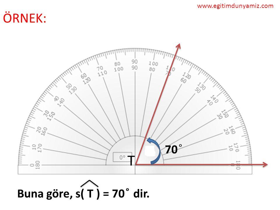 www.egitimdunyamiz.com ÖRNEK: 70 ͦ T Buna göre, s( T ) = 70 ͦ dir.