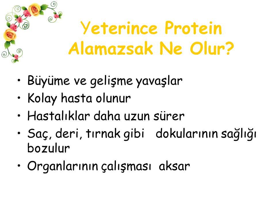 Yeterince Protein Alamazsak Ne Olur
