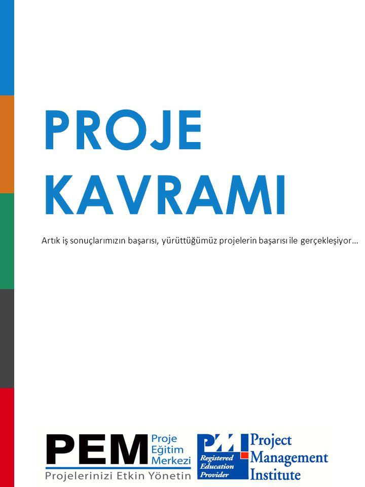 PROJE KAVRAMI. Artık iş sonuçlarımızın başarısı, yürüttüğümüz projelerin başarısı ile gerçekleşiyor…