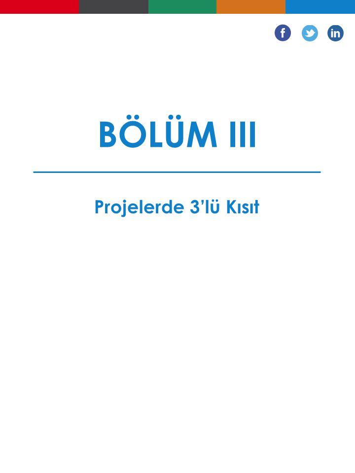 BÖLÜM III Projelerde 3'lü Kısıt