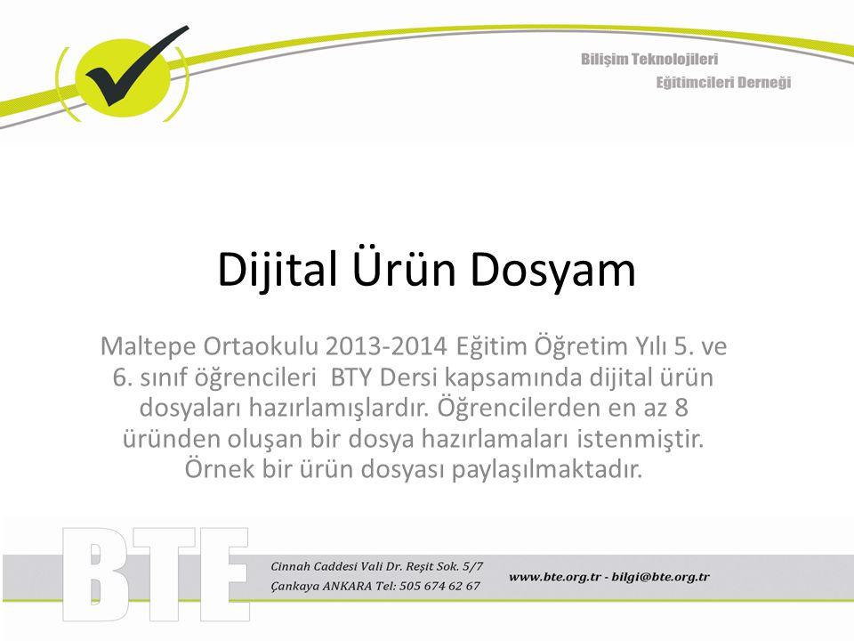 Dijital Ürün Dosyam