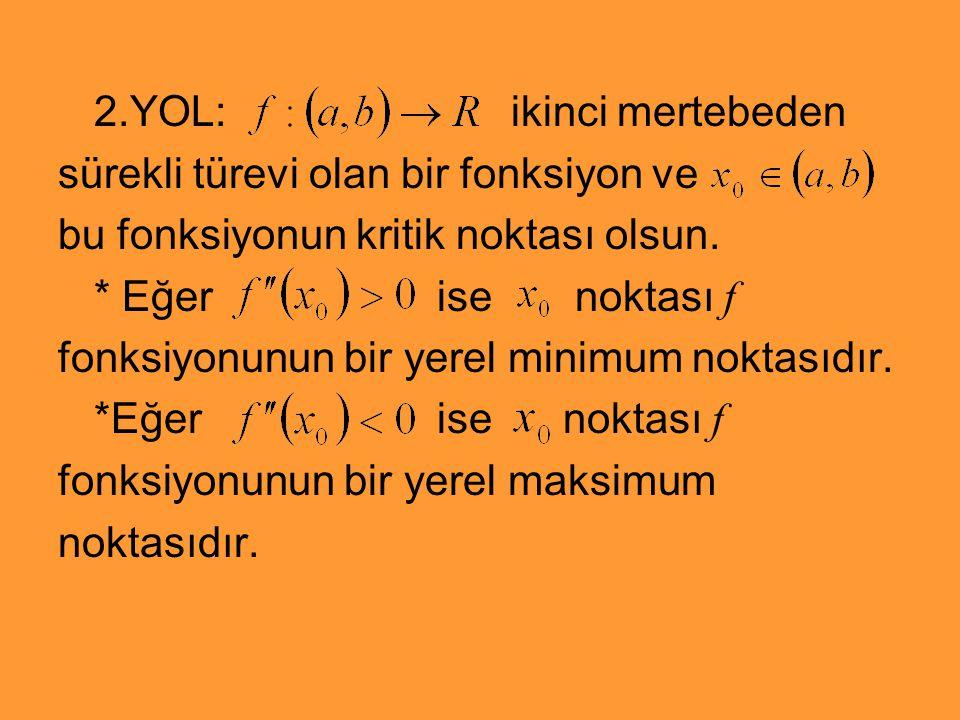 2.YOL: ikinci mertebeden