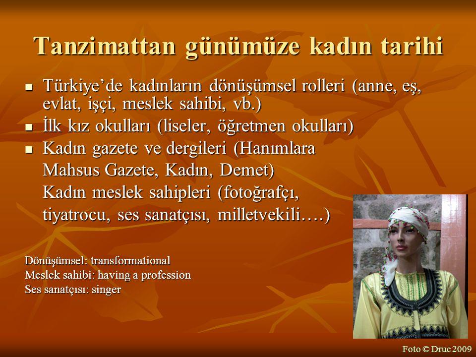 Tanzimattan günümüze kadın tarihi