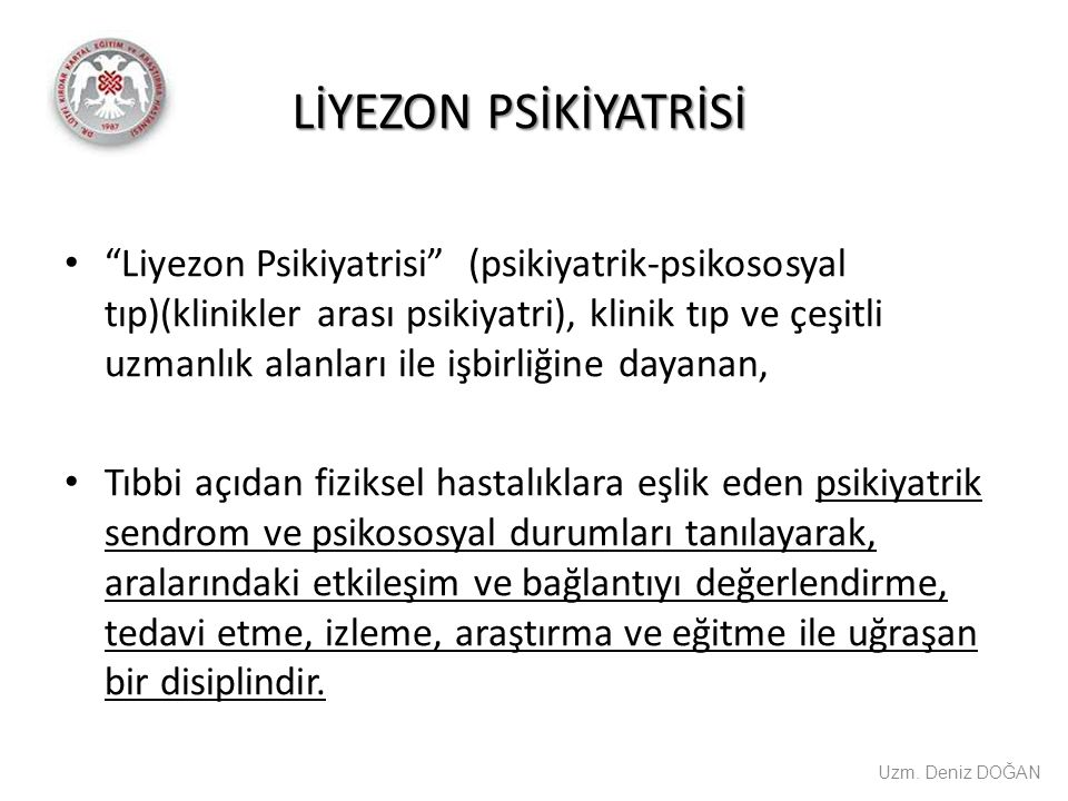LİYEZON PSİKİYATRİSİ