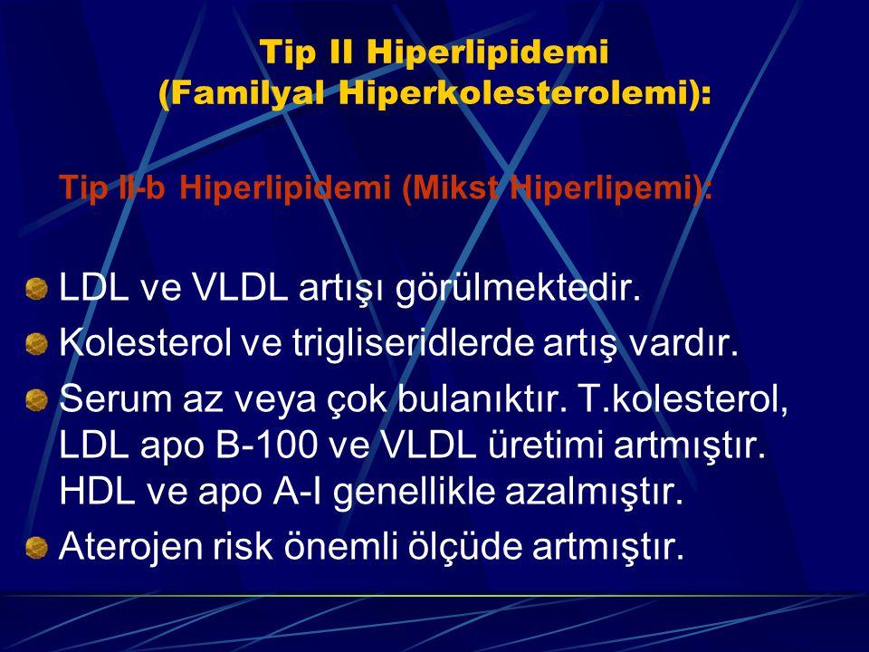 Tip II Hiperlipidemi (Familyal Hiperkolesterolemi):