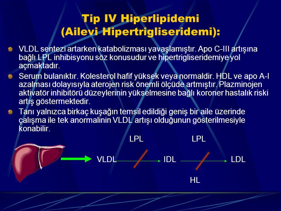 Tip IV Hiperlipidemi (Ailevi Hipertrigliseridemi):