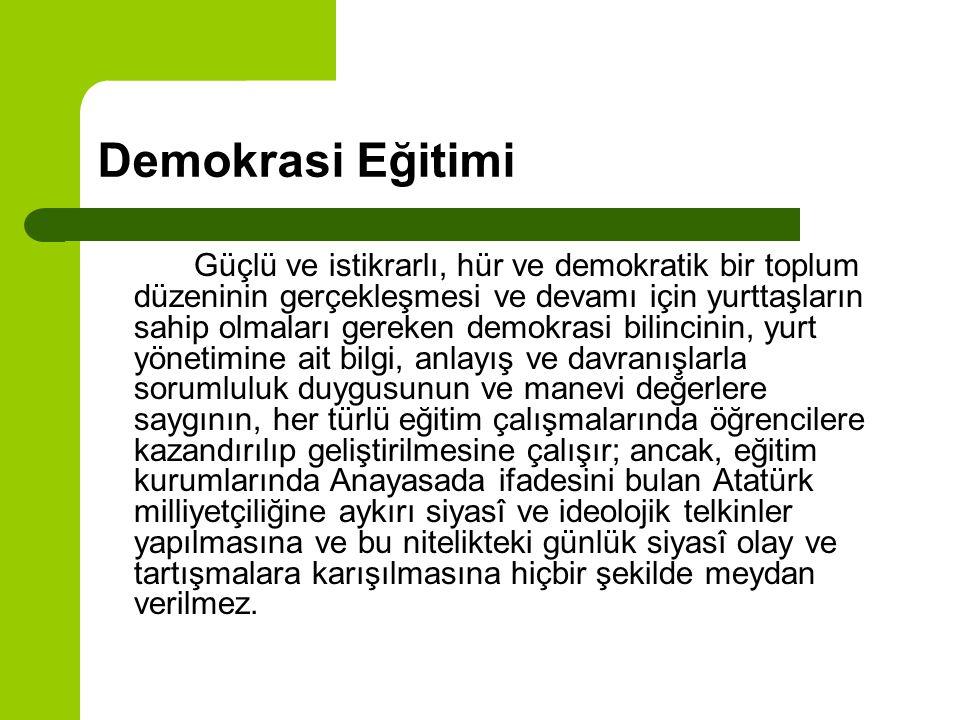 Demokrasi Eğitimi