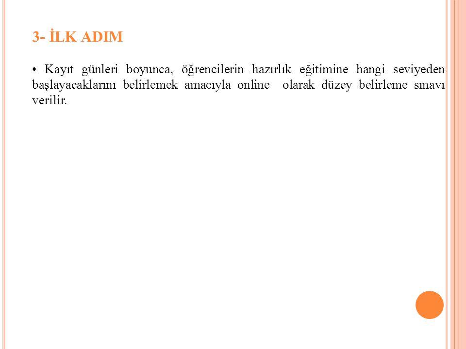3- İLK ADIM