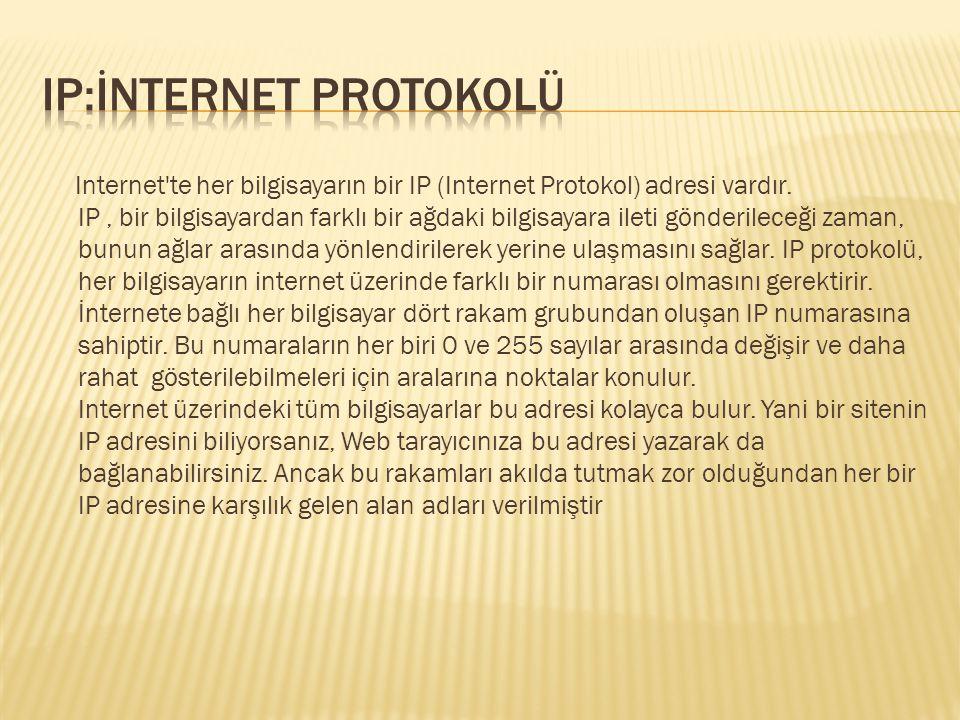 IP:İnternet protokolü