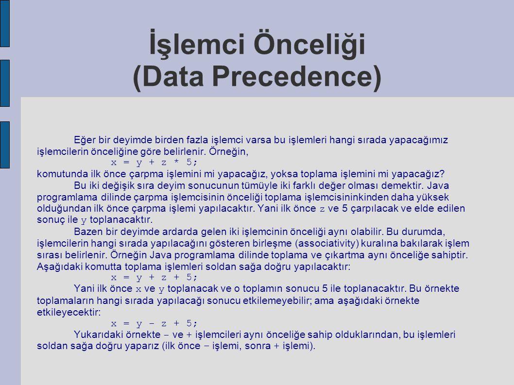 İşlemci Önceliği (Data Precedence)