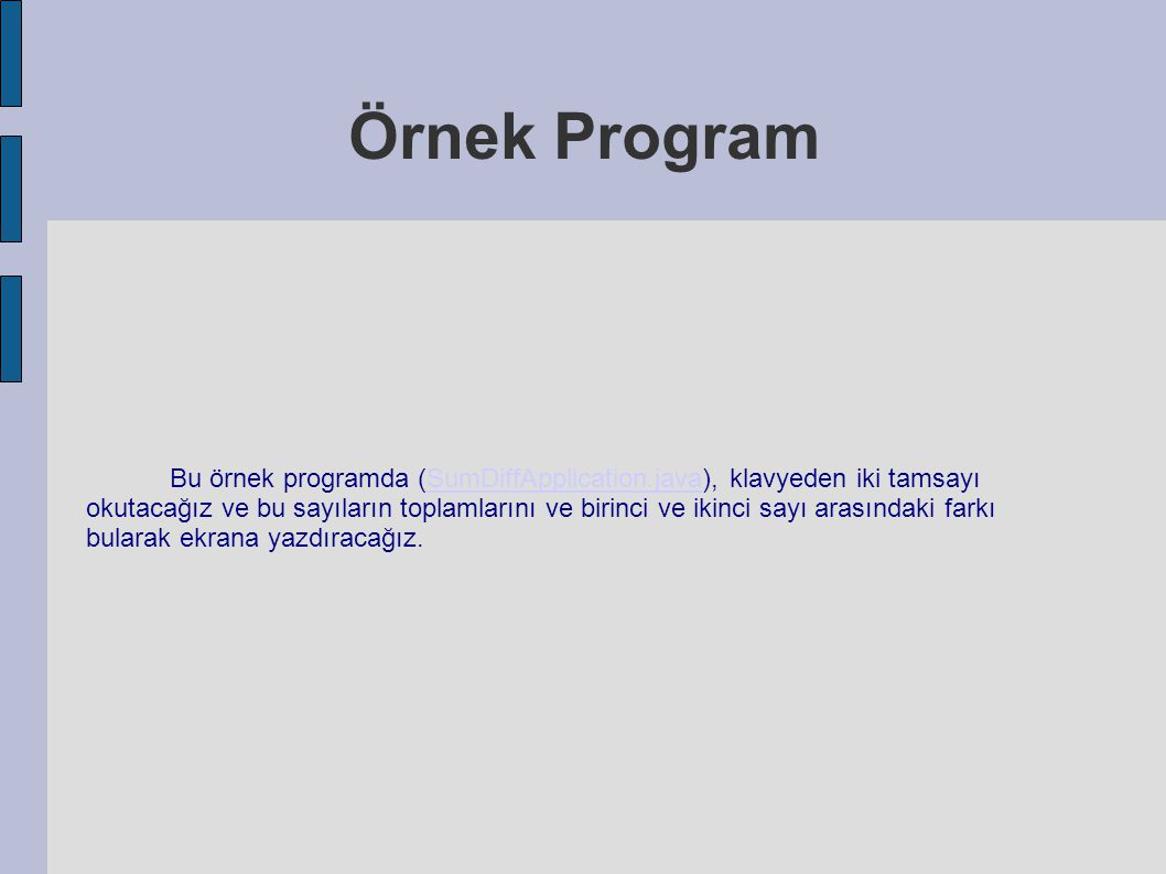 Örnek Program