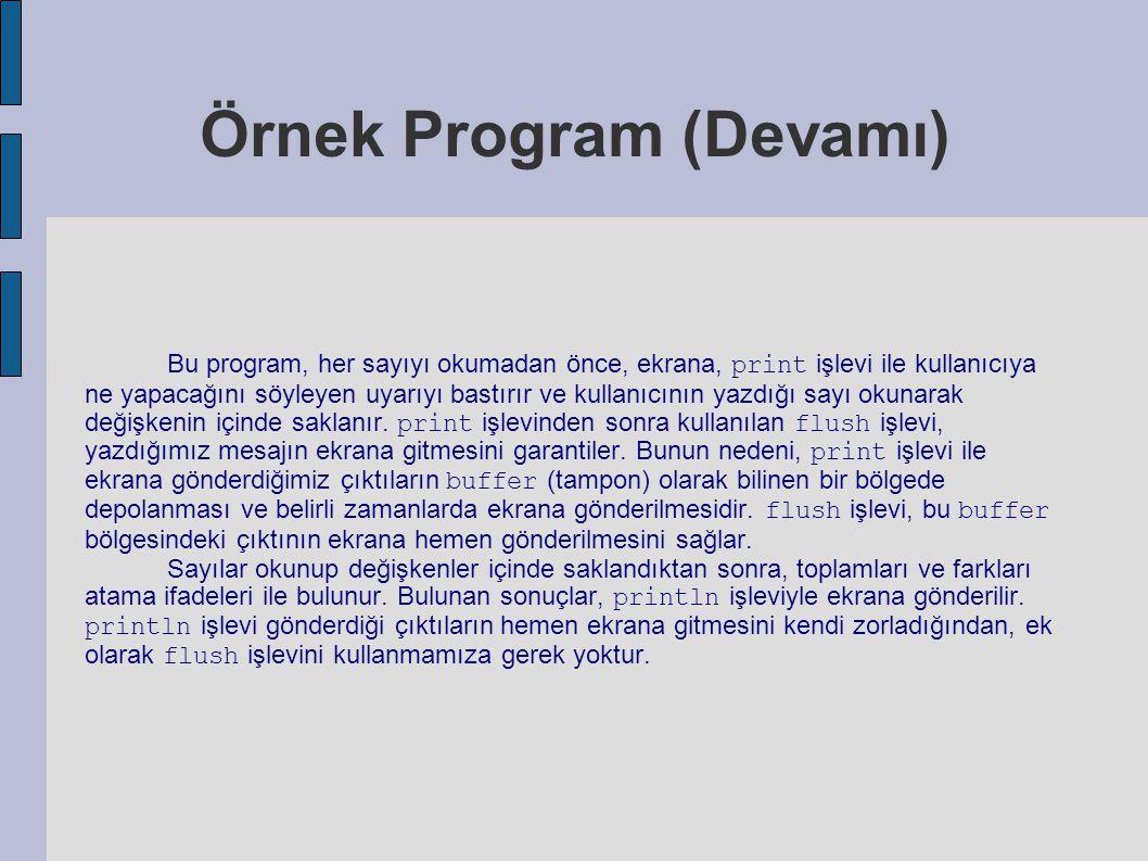 Örnek Program (Devamı)