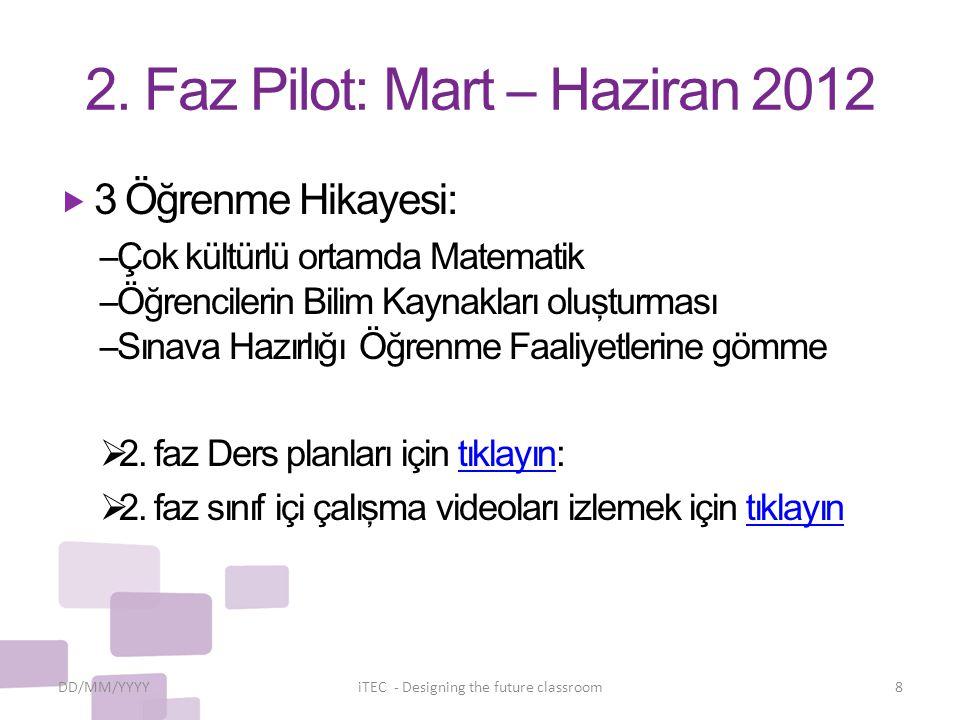 2. Faz Pilot: Mart – Haziran 2012