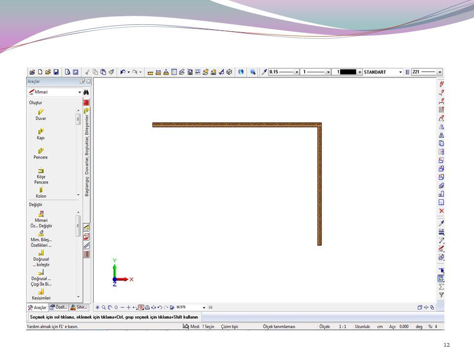 Allplan'da, çizdiğiniz elemanları, farklı çizim ölçeklerinde, o ölçeğe uygun detay ve görünüm elemanları içerecek şekilde ekrana getirilebilirsiniz.
