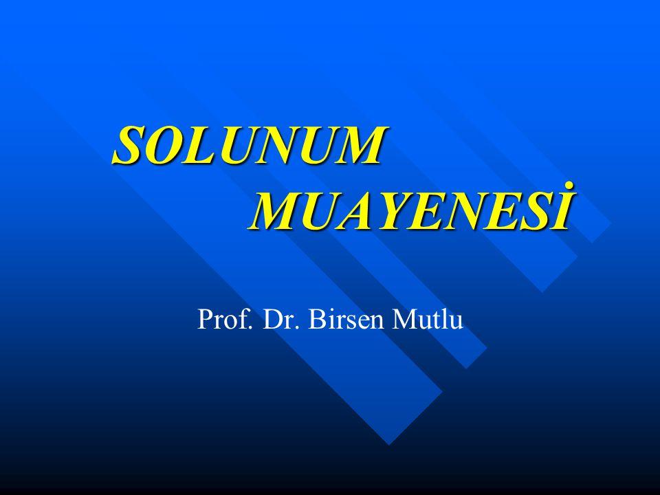 SOLUNUM MUAYENESİ Prof. Dr. Birsen Mutlu