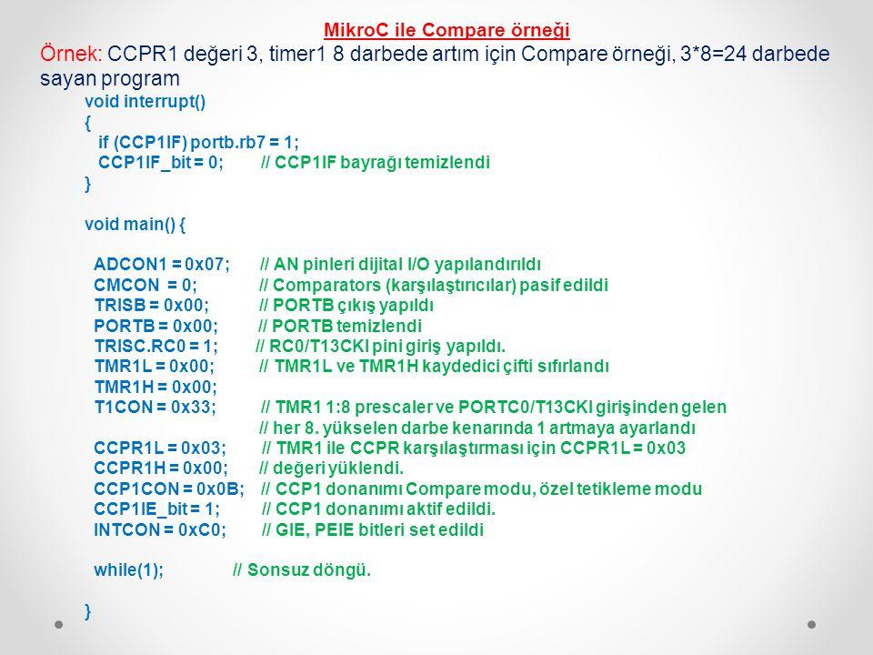 MikroC ile Compare örneği