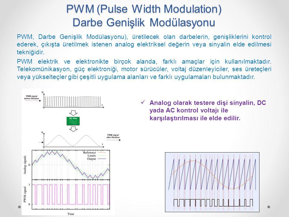 PWM (Pulse Width Modulation) Darbe Genişlik Modülasyonu