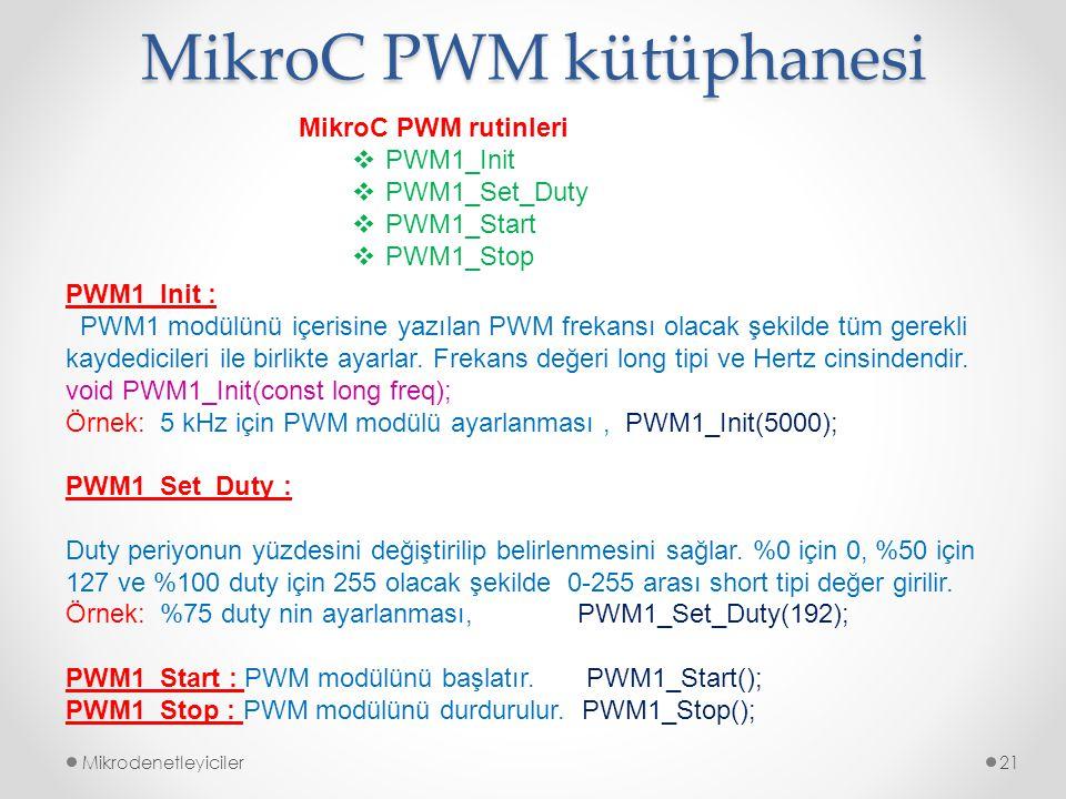 MikroC PWM kütüphanesi